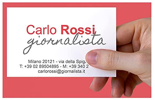 Biglietti da visita personalizzati a colori su carta patinata 400 gr set da 500 bigliettini personalizzabili