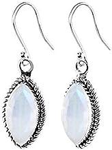 Sivalya 3.00 Ctw Pear Cut Natural Black Onyx Earrings in 925 Sterling Silver Genuine Teardrop Shape Gemstone Solid Silver French Hook Dangle Earrings 1.5
