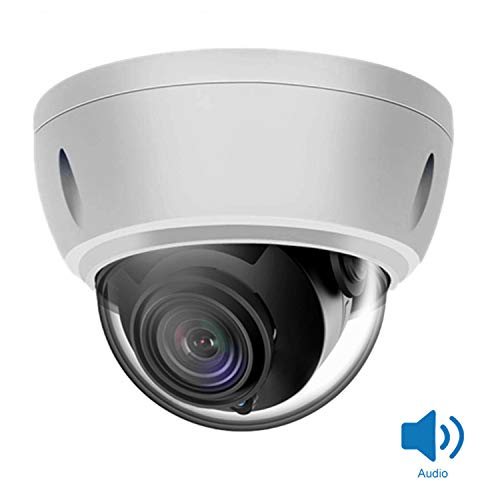 Anpviz 5MP IP PoE Dome Security Camera with Audio, 2.8mm Lens, 98ft Night Vision, Motion Detection, Weatherproof IP66 Indoor Outdoor ONVIF Compatible H.265 Camera