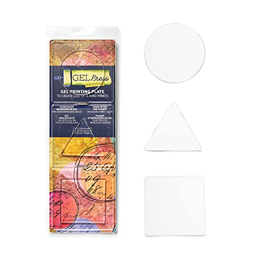 Printmaking Gel Plates by Gel Press - SET 2 (Circle, Triangle, Square)
