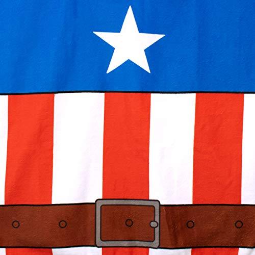 Marvel Poncho Asciugamano con Cappuccio per Ragazzi Captain America