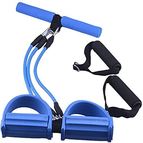 Rally Multifunción Banda de Resistencia Dispositivo de Entrenamiento de Estiramiento Rally Pedal Entrenamiento Cuerda de Abdominales Equipo de Fitness para el hogar Ejercicio Abdominal Azul-Azul