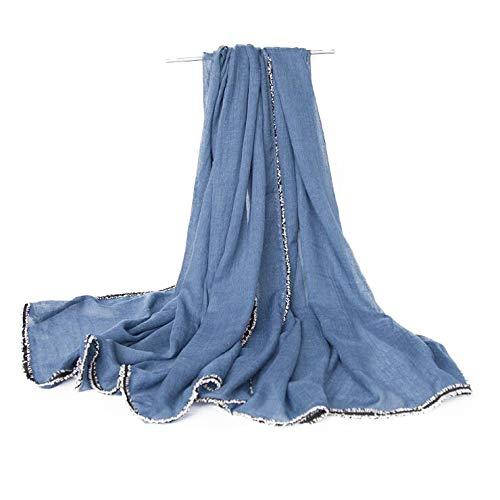 ZXXWJ Frauen Baumwolle Schal Mode Große Schals Schal Halstuch Leiter Thin Wickelt Für Damen, Fs 458 1.180 cm X 90 cm