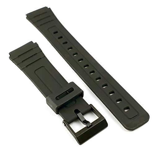 Cinturino di ricambio F91W, realizzato per Casio F-91W, cinturino nero generico, 18 mm, F91