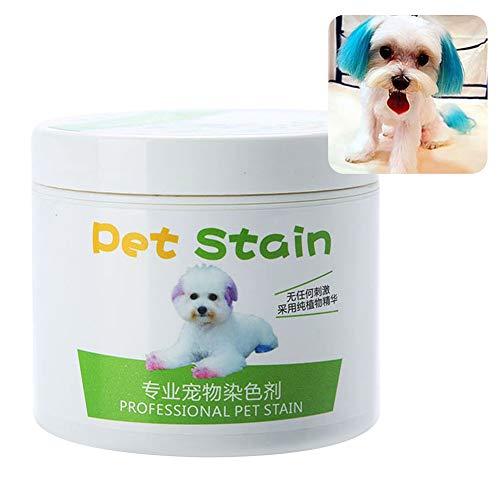 yibenwanligod Anti-Allergisches Haarfärbemittel für Katzen und Hunde, 100 ml Türkis Grün