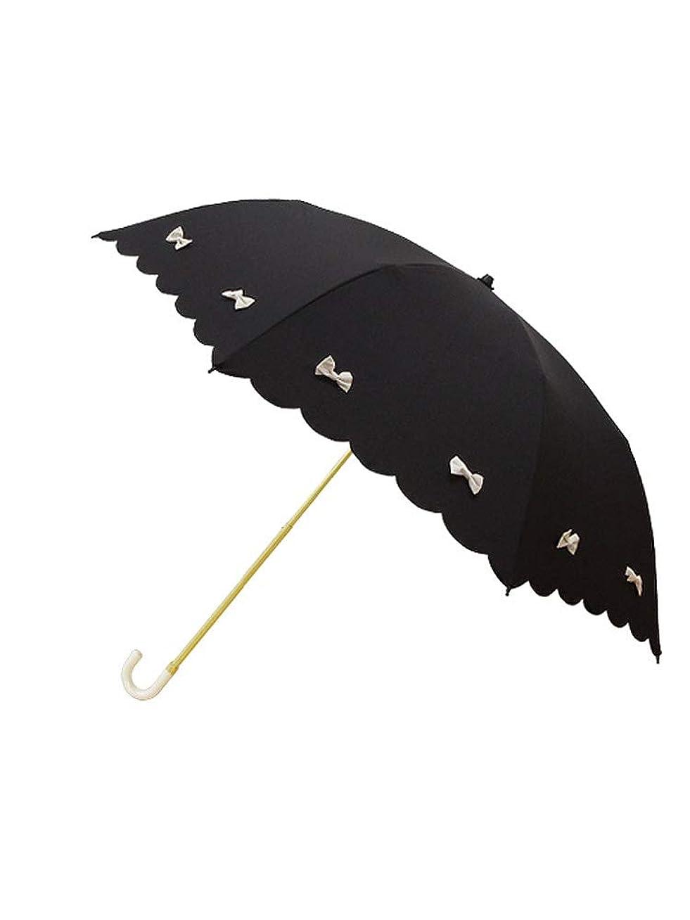 喪どれか人間[ピンクトリック] 折りたたみ 傘 晴雨兼用 UVカット