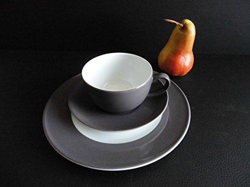 Dibbern SONDERAKTION - Originalware Solid Color - Kaffeetasse m.U. 0,25 + Teller 21 cm - Umbra - NEU