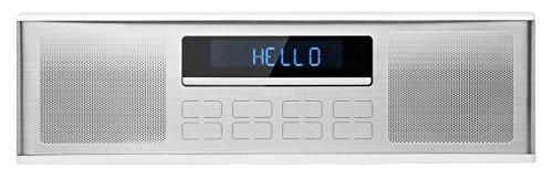 MEDION LIFE P64000 MD 43180 Kompaktanlage, kabellose Musikübertragung via Bluetooth, Wiedergabe vom USB Stick, MP3/CD kompatibel, PLL-Stereo UKW-Radio, 30 Senderspeicher, silber/weiß