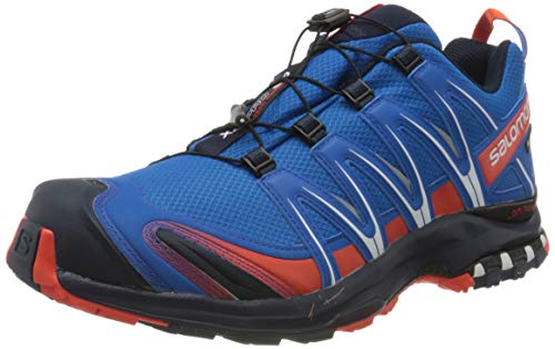 Salomon Men's Trail Running Shoes, XA PRO 3D GTX, Colour: Blue (Imperial Blue/Navy Blazer/Cherry Tomato), Size: UK - Size 11.5