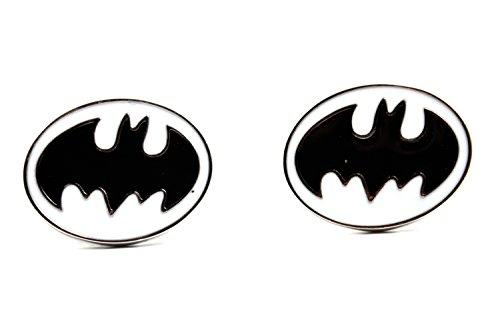 Lujo Batman blanco negro Gemelos–Vintage Logo