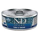 Farmina Natural & Delicious Ocean Feline Bonito & Shrimp Cans 12/2.8-Oz