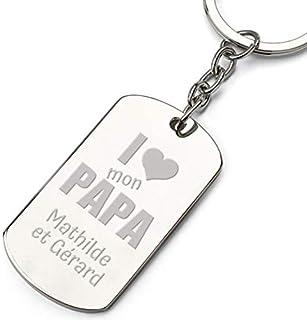 Porte-clés Cadeau fête des pères personnalisé I Love Papa