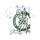 Mitchell & Ness NBA Big Face Boston Celtics - Camiseta, color blanco Blanco XXL