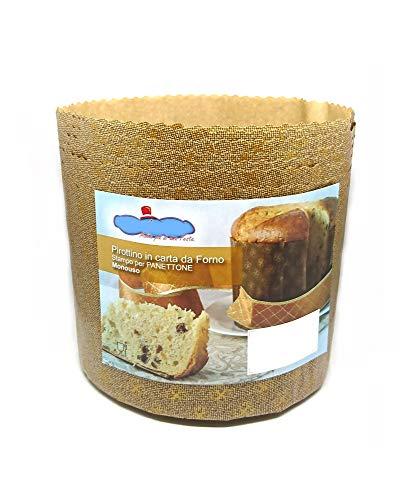 Molde Panettone 750g Alto – 10 piezas – pirottino desechable de papel de horno - Ideal para panettoni, Panettone gastronomico, tartas de Navidad, pandoro ecc. [Dream