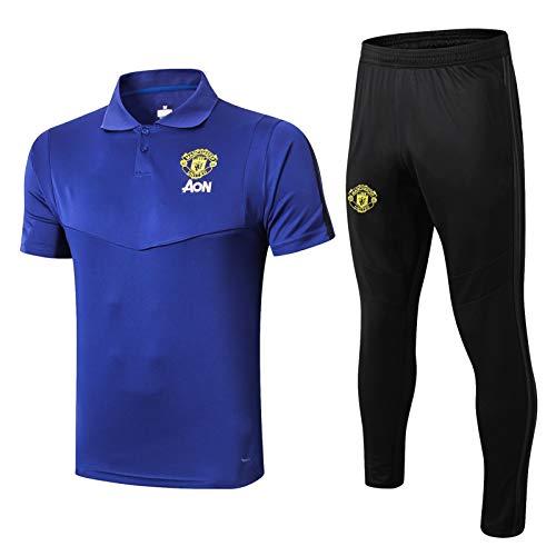 Alvnd Camisa de Manga Corta de Manchester United Polo Casual para Hombre Camisa de Tenis Golf Clásico Clásico Secado rápido Camiseta (Color : E, Size : S)