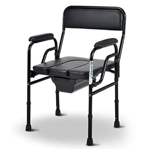 LXYu-Toilettenstuhl Faltbare Kommoden Badestuhl Toilette mit Tragbares Bidet Dusche für ältere Behinderte schwanger