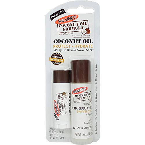 Palmers Coconut Oil Formula Protect and Hydrate Duo Pack - SPF 15 Lip Balm and Multi-Purpose Swivel Stick