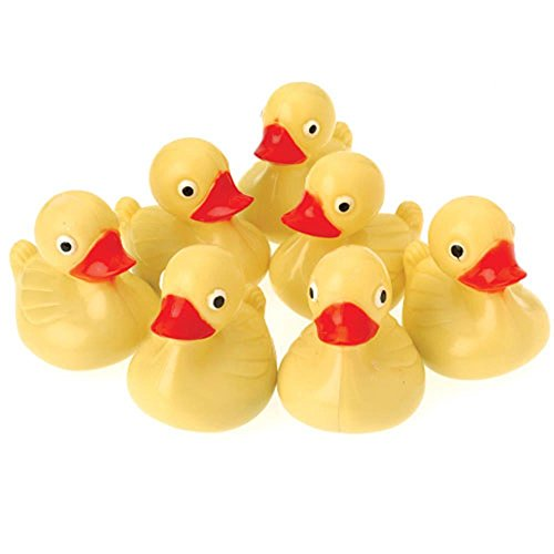 US Toy Hard Plastic Yellow Duck Pond Floaters (Lot of 12), 3'