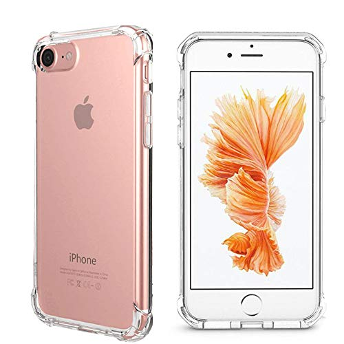 HD Clear Case for iPhone 7, for iPhone 8 Case,Hybrid Scratch Resistant Back Cover with Shock Absorbing Bumper Soft TPU Cover Case for iPhone 7 (2016)/iPhone 8 (2017)(Clear)