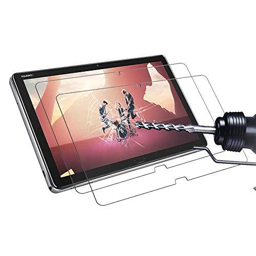Didisky [2 Pezzi Vetro Temperato per Huawei Mediapad M5 Lite 10 Pellicola Protettiva, [Ultra-Clear] [Tocco Morbido ] Anti Graffi, Facile da Pulire, Facile da installare