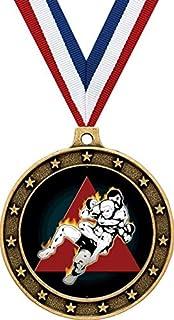 """Gold Martial Arts Medals - 2.5"""" Jiu Jitsu Rear Naked Choke Award Medals Prime"""