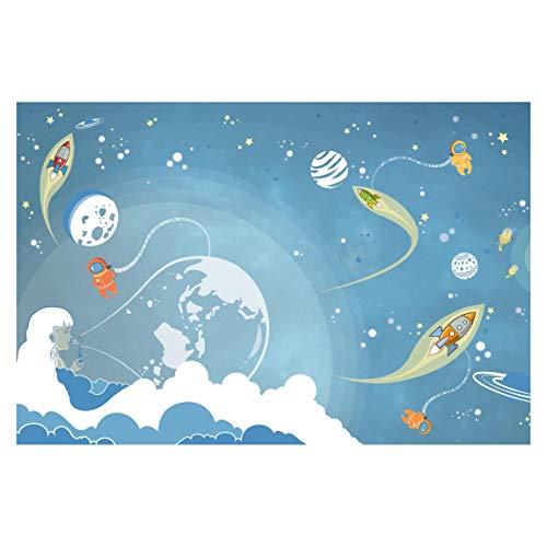Vliestapete No.MW16 Buntes Weltraumtreiben, Größe: 255cm x 384cm