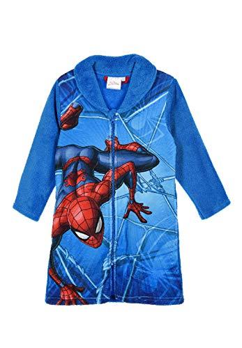 Yuhu Spider-Man Jungen Kinder Bademantel Morgenmantel, Farbe:Blau, Größe:128