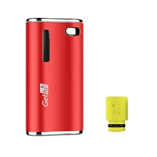 電子タバコ Airistech Gethi G2 カートリッジバッテリー ヴェポライザー カートリッジ 対応 510規格 510スレッド Cartridge battery Vaporizer VAPE ドリップチップ付き プレゼントセット (Red)
