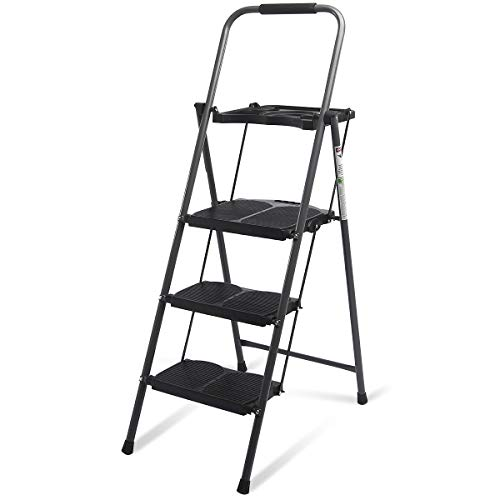 Giantex 3 Step Ladder Folding Ladder Stool with Tool Platform 330 LBS...