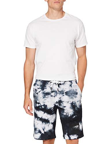 Superdry JPN Tie Dye Short Pantalones Cortos, Negro (Vintage Black 06a), S para Hombre