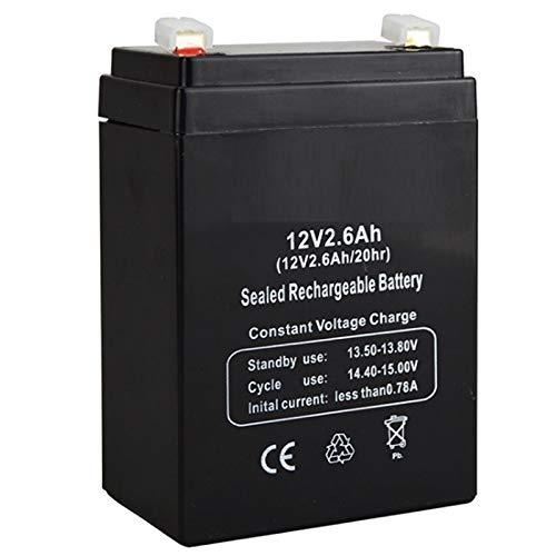 CENYAFAN 12V 2.6Ah 12V2.6AH batería for niños de coches de juguete del portador de bebé de alimentación de respaldo luz del escritorio LED de reemplazo de plomo-ácido de acumulador Nueva Herramienta d