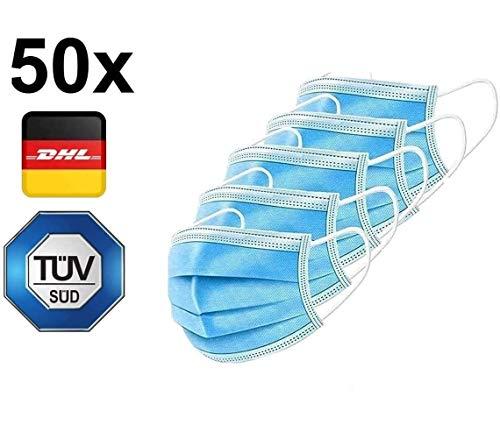 """Test: """"SEHR GUT"""" - 50x TÜV geprüfte Einweg Atemmaske EN14683 TYP II mit 98% BFE - von Jiangsu Huayuan - Gesichtsmaske - Einwegmaske Mundschutz Staubschutz Maske mit Ohrschlaufen"""