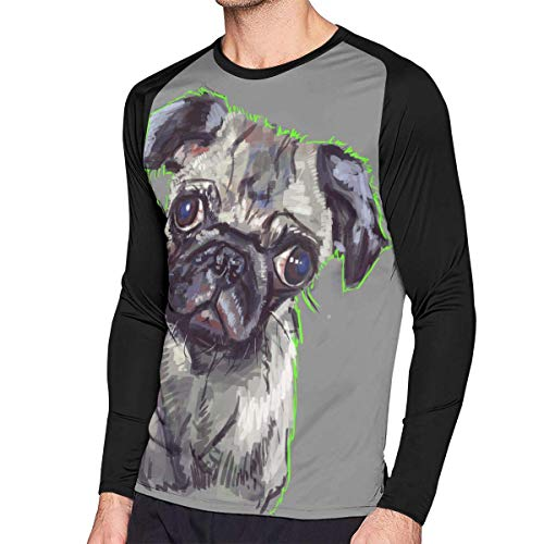 Herren Langarm Classic T-Shirt, Men's Casual Drugs Not Pugs Long Reglan T-Shirt Tunics Tops