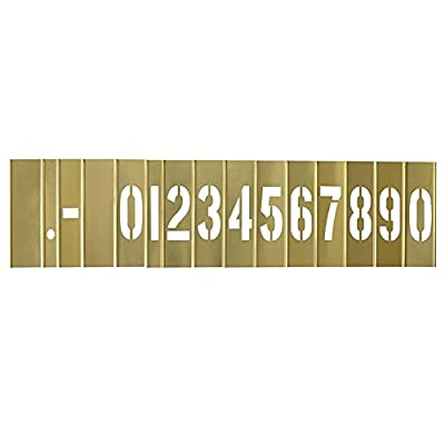 Deezio Interlocking Stencil Set of Numbers and Letters Kit