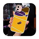 Funda-a10-iPhone X Coque transparente mate pour iPhone 7 8 11 12 S Mini Pro X XS XR MAX Plus Motif...