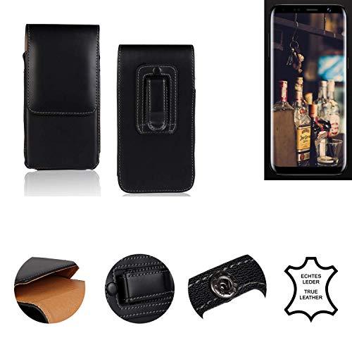 K-S-Trade® Holster Gürtel Tasche Für Bluboo S8 Handy Hülle Leder Schwarz, 1x