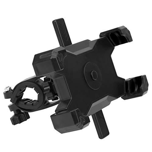 Tomanbery Soporte de teléfono móvil de Ciclismo Ajustable para Bicicleta estática para Bicicleta de montaña para Bicicletas Plegables para teléfonos Inteligentes(Black)