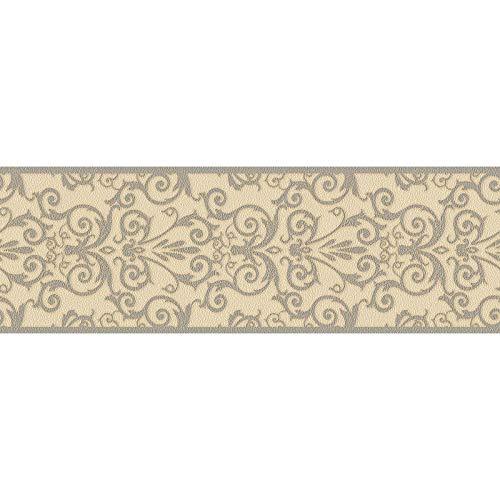 Cenefa estilo barroco barroco beige 935475 93547-5 Versace Versace 1 | beige | Rollo (5 x 0,17 m) = 0,85 m²