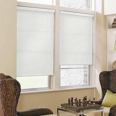 JCPenney Home 1' Aluminum Horizontal Blinds (26'W X 54'H, Cool White)