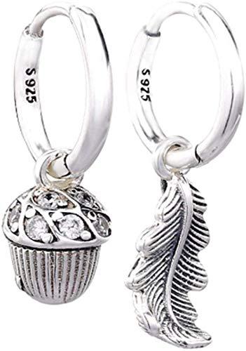 Semplicità Elegante Orecchini in Argento Sterling 925 con Foglie Di Ghianda con Cristalli per Gioielli da Donna Regalo Di Nozze, XSHL
