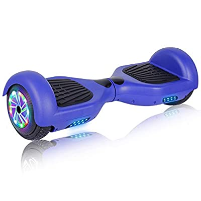 """UNI-SUN 6.5"""" Hoverboard for Kids, Two Wheel Electric Scooter, Self Balancing Hoverboard with Bluetooth and LED Lights for Adults, UL 2272 Certified Hover Board (A01 Blue(No Bluetooth))"""