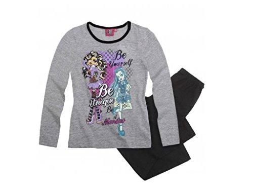 Monster High Schlafanzug schwarz/grau (122/128)