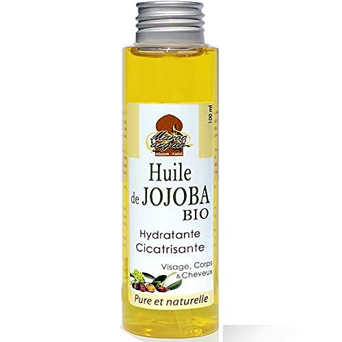 Maroc Argan Huile de Jojoba BIO et naturelle - Nourrisante et Cicatrisante - Parfaite pour lutter contre l'acné - 100ml