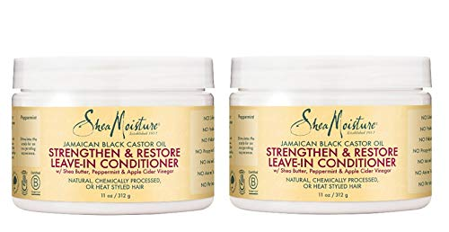 Shea Moisture Jamaican Black Castor Oil Strengthen, Grow & Restore Leave-In Conditioner 12oz, 312gm Pack of 2