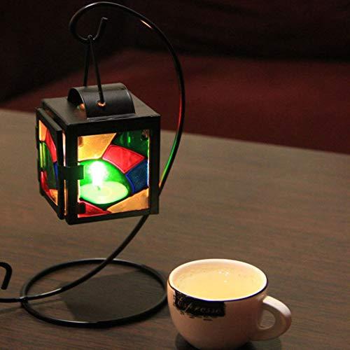 PULABO Supporto da tavolo in stile marocchino Candelabro Candelabro Candelabro Portacandele Appeso Lanterna Home Decor Colorato 2 Alta Qualityaffidabile
