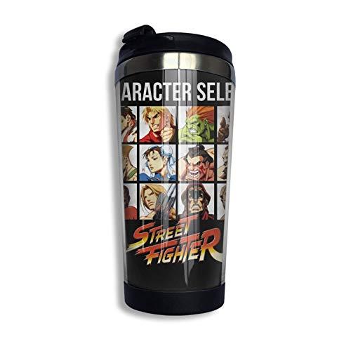 guatan Street Fighter Tasse à café isolée sous Vide en Acier Inoxydable, Tasse de Voyage, Bouilloire avec Couvercle Sph.