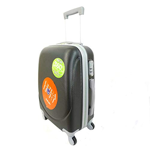 Cabin Suitcase 54x35x22.5cm 35L Hand Luggage Trolley Travel with 4 Wheels 360 Degree Rotation Lightweight and Flexible Black Black