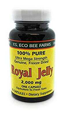 Ys Bee Farms, Royal Jelly 100% Pure, 35 Count