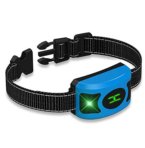 Ruyun Collar Recargable Anti Perro ladrido, Impermeable Smart detección Tren Grande Mediano pequeño Perros humanamente con luz de respiración LED & Pantalla
