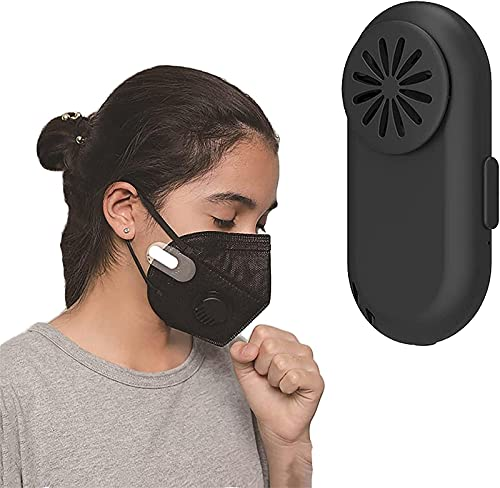 MTDBAOD Breathe Cooler Wearable Air Purifier, Portable Mini Masks Clip Fan with USB, Personal Ionizer Air Purifier Wearable Low Noise Air Purifier Mask Clip for Outdoor Sports (Black)